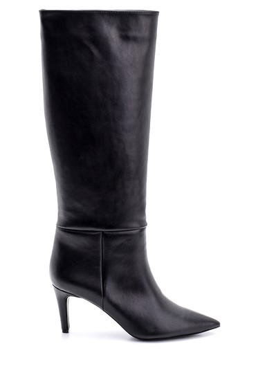 Siyah Kadın İnce Topuklu Çizme 5638106071
