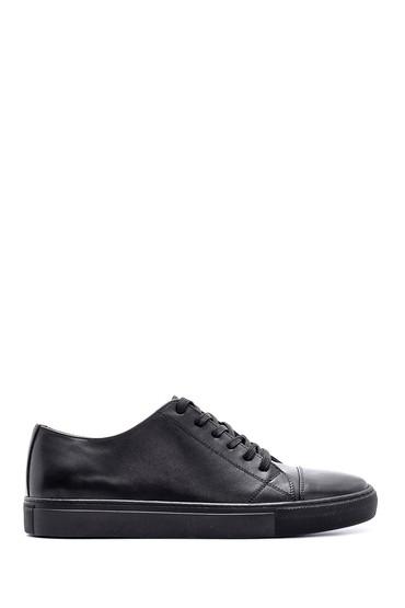 Siyah Erkek Deri Sneaker 5638143043