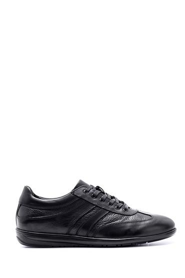 Siyah Erkek Deri Sneaker 5638143220