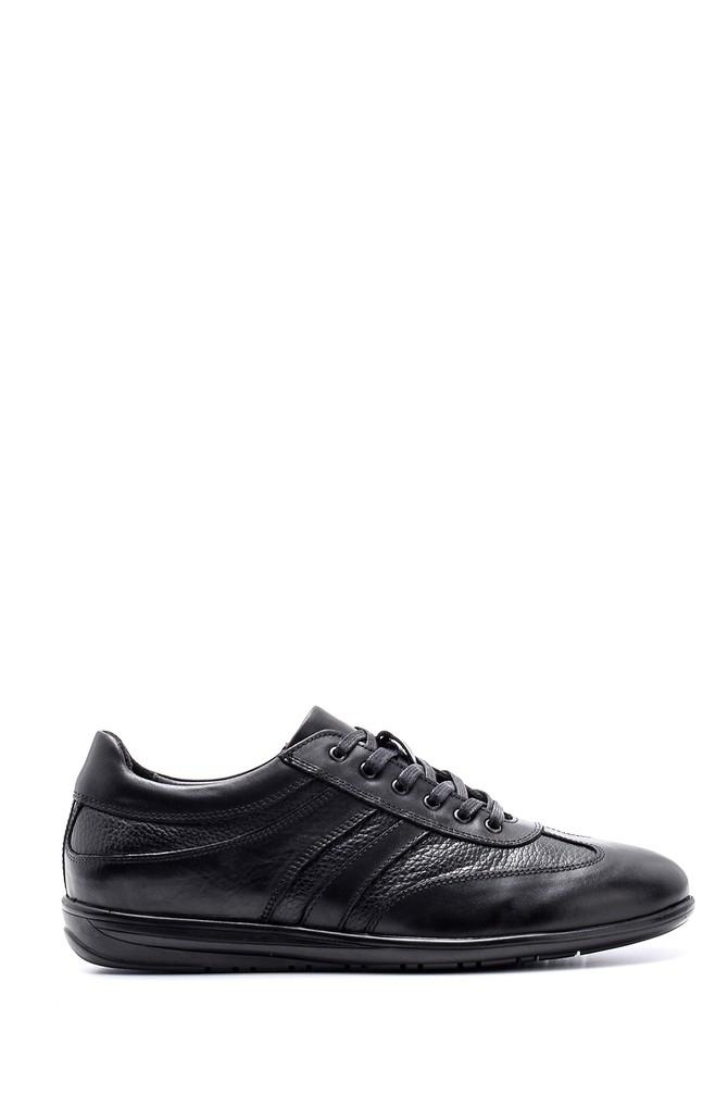 Siyah Erkek Deri Sneaker 5638143239