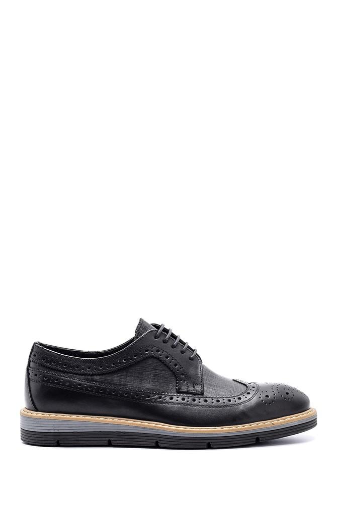 Siyah Erkek Casual Deri Ayakkabı 5638143243