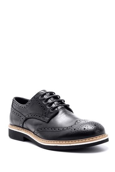 Siyah Erkek Deri Casual Ayakkabı 5638144019