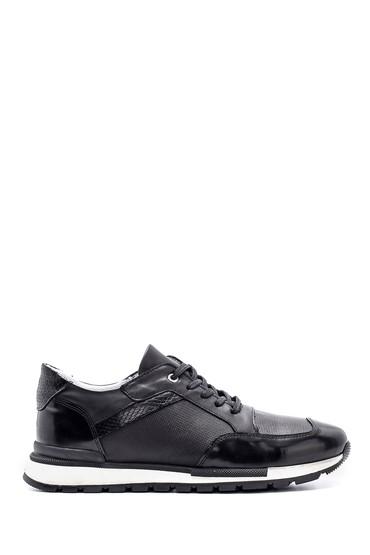 Siyah Erkek Deri Sneaker 5638148314