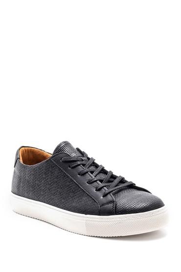 Siyah Erkek Deri Sneaker 5638148416