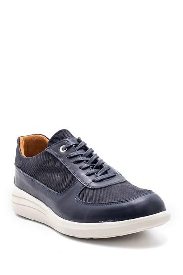 Lacivert Erkek Deri Sneaker 5638148478