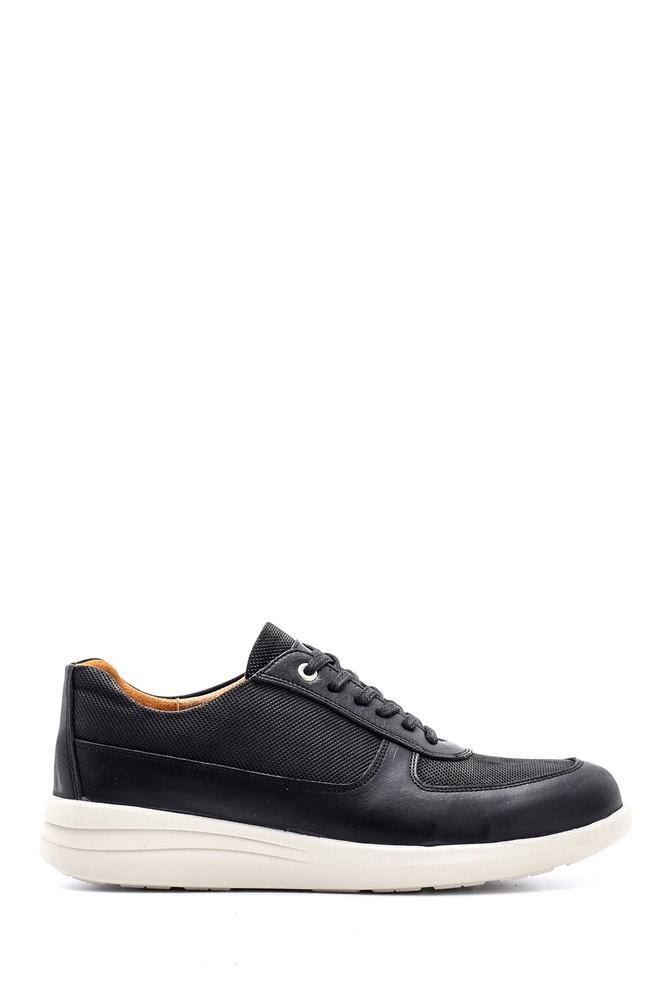 Siyah Erkek Deri Sneaker 5638148476