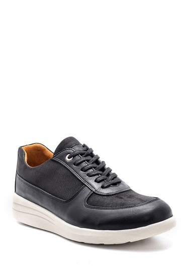 Siyah Erkek Deri Sneaker 5638148500
