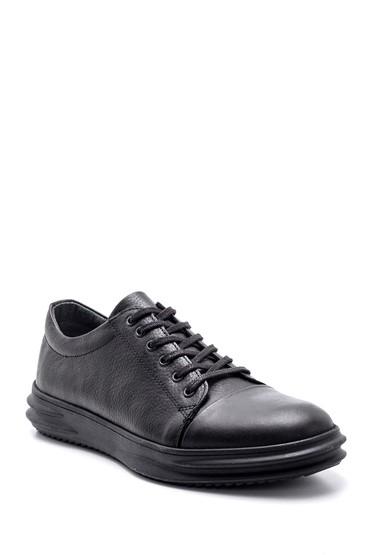 Siyah Erkek Deri Sneaker 5638134762