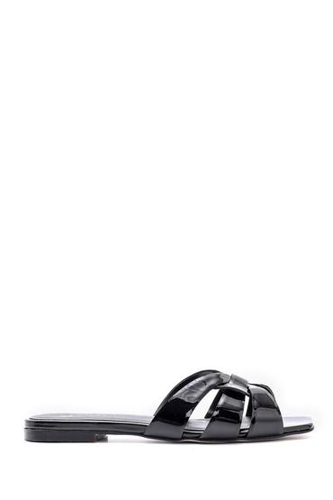 Siyah Kadn Deri Terlik 5638160550