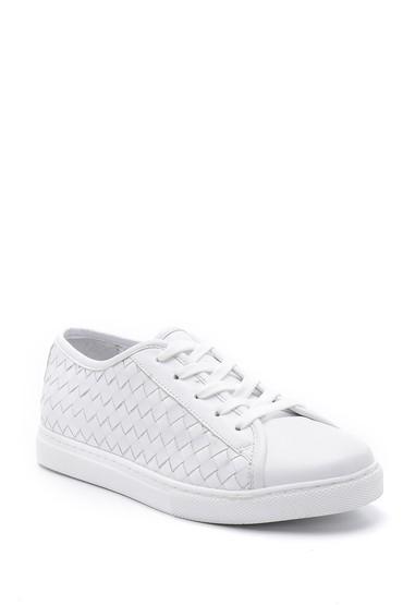 Beyaz Kadın Deri Sneaker 5638159446