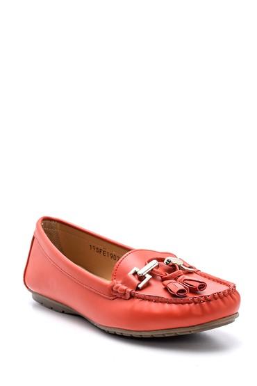 Kırmızı Kadın Aksesuar Detaylı Loafer 5638121354