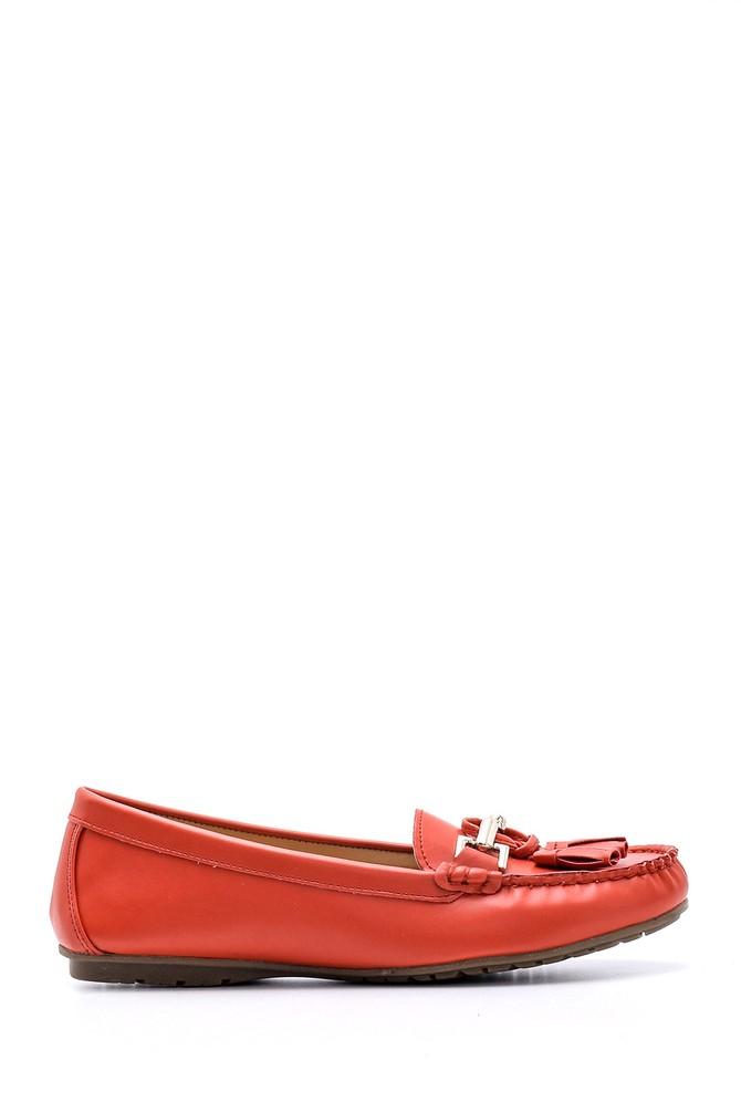 Kırmızı Kadın Aksesuar Detaylı Loafer 5638121352