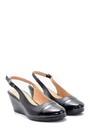 5638121770 Kadın Rugan Detaylı Dolgu Topuklu Sandalet