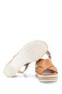 5638126242 Kadın Hasır Detaylı Sandalet