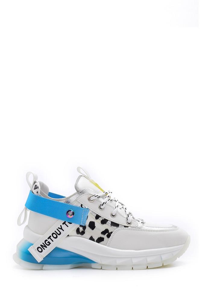 Beyaz Kadın Desenli Sneaker 5638095944