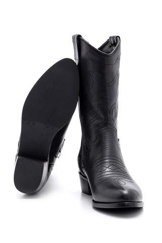 Kadın Deri Kovboy Çizme