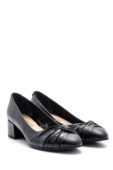 Siyah Kadın Kalın Topuklu Ayakkabı 5638101750