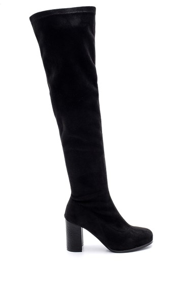 Siyah Kadın Topuklu Uzun Çizme 5638105441