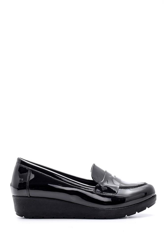 Siyah Kadın Rugan Ayakkabı 5638127546