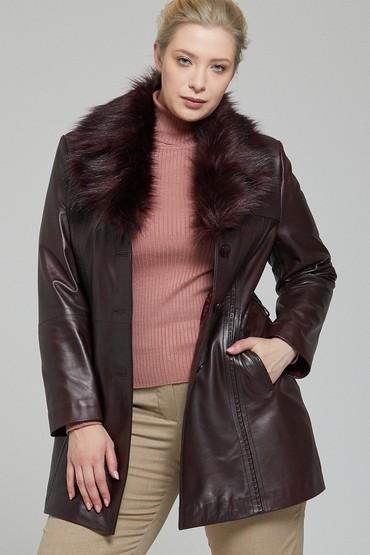 5637812404 New Alexandra Kadın Deri Ceket