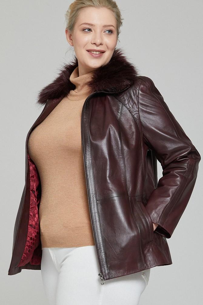 5637836134 Samantha Kadın Deri Ceket