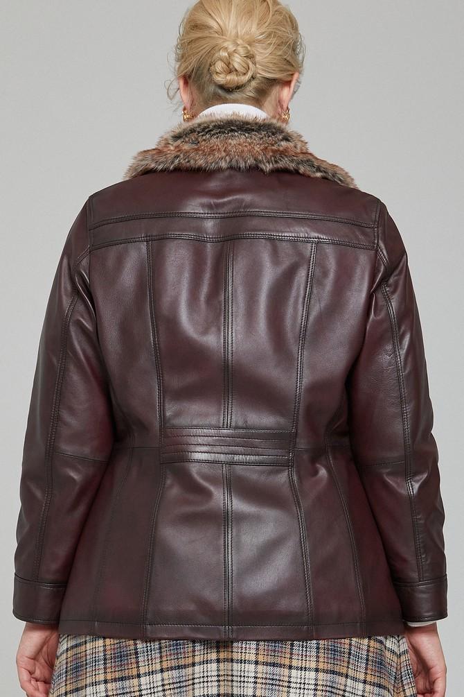 5638087366 Mira (Plus) Kadın Deri Ceket
