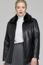 5638114485 Samantha-X Kadın Deri Ceket