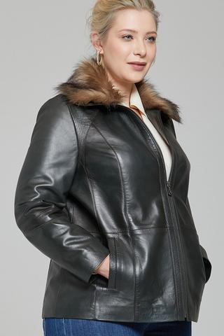Samantha-X Kadın Deri Ceket