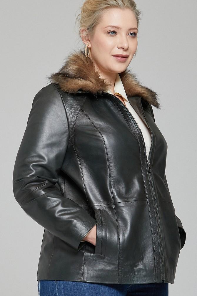 5638115986 Samantha-X Kadın Deri Ceket