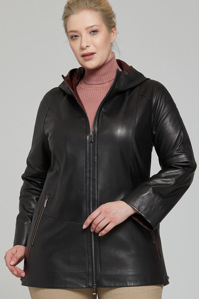 5638123737 Hilary Plus Kadın Deri Ceket