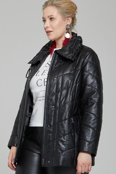 Siyah Elvira Kadın Deri Ceket 5638140185