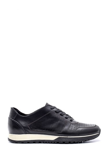 Siyah Erkek Deri Sneaker 5638134661