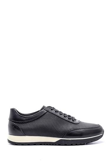Siyah Erkek Deri Sneaker 5638134784