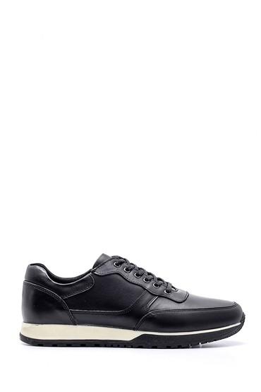 Siyah Erkek Deri Sneaker 5638134891