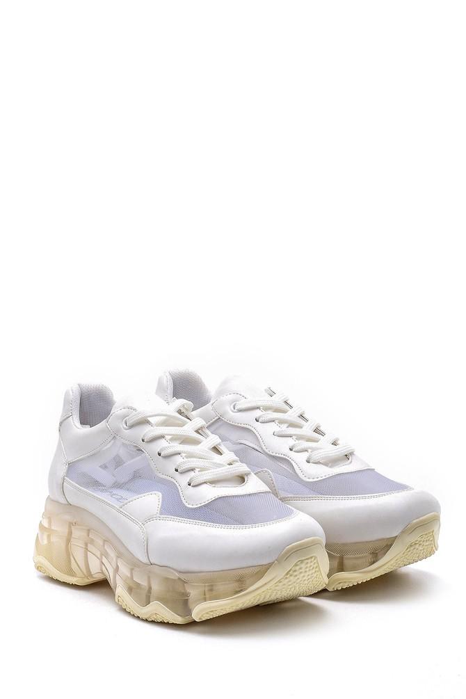 5638142216 Kadın Şeffaf Tabanlı Sneaker