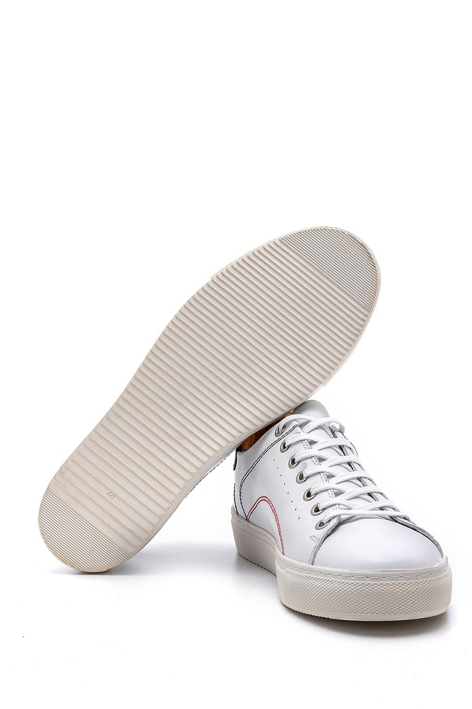 5638148394 Erkek Dikiş Detaylı Deri Sneaker