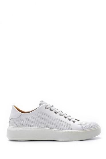 Beyaz Erkek Deri Sneaker 5638148507