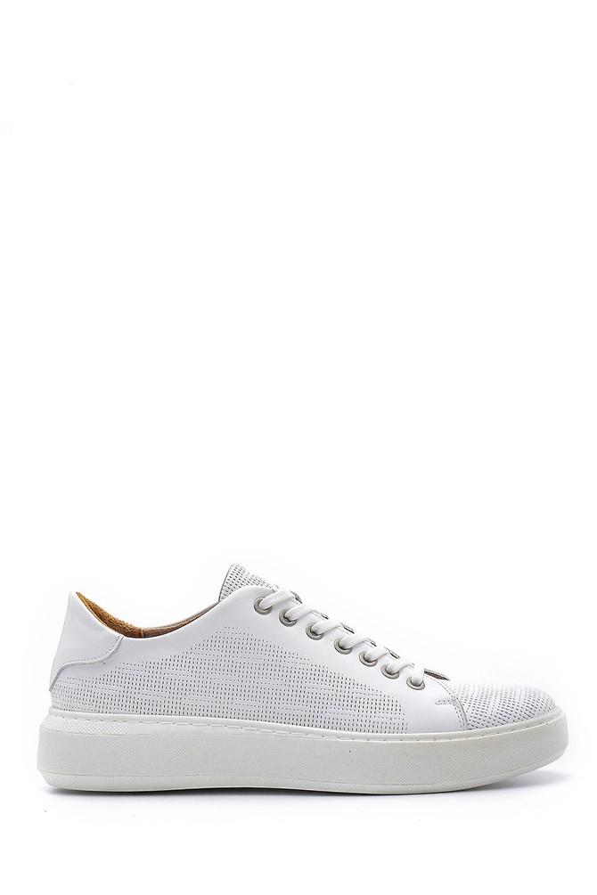 Beyaz Erkek Deri Sneaker 5638148526