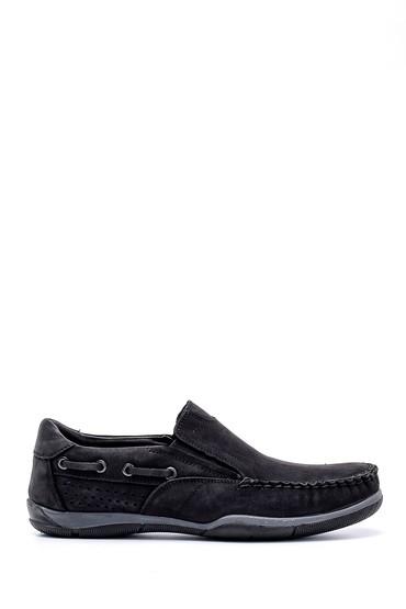 Siyah Erkek Nubuk Deri Casual Ayakkabı 5638158419