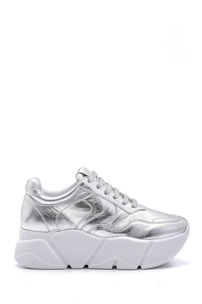 Gümüş Kadın Gümüş Detaylı Sneaker 5638148357