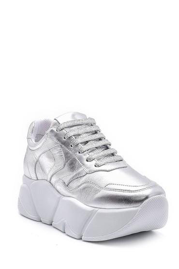 Gümüş Kadın Gümüş Detaylı Sneaker 5638148349