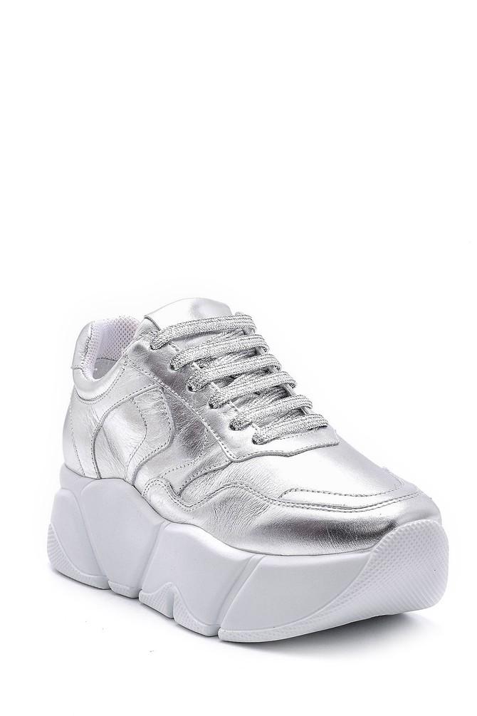 5638148357 Kadın Gümüş Detaylı Sneaker