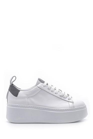 Beyaz Kadın Deri Sneaker 5638167617