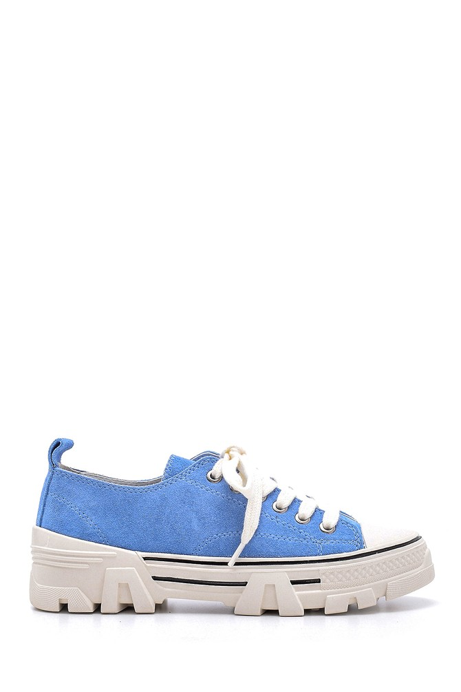 Mavi Kadın Süet Deri Sneaker 5638175165