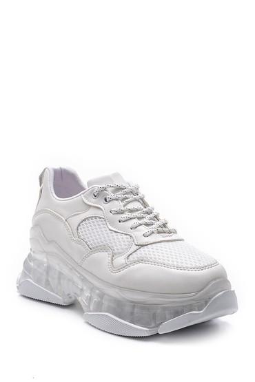 Beyaz Kadın Şeffaf Tabanlı Sneaker 5638121130