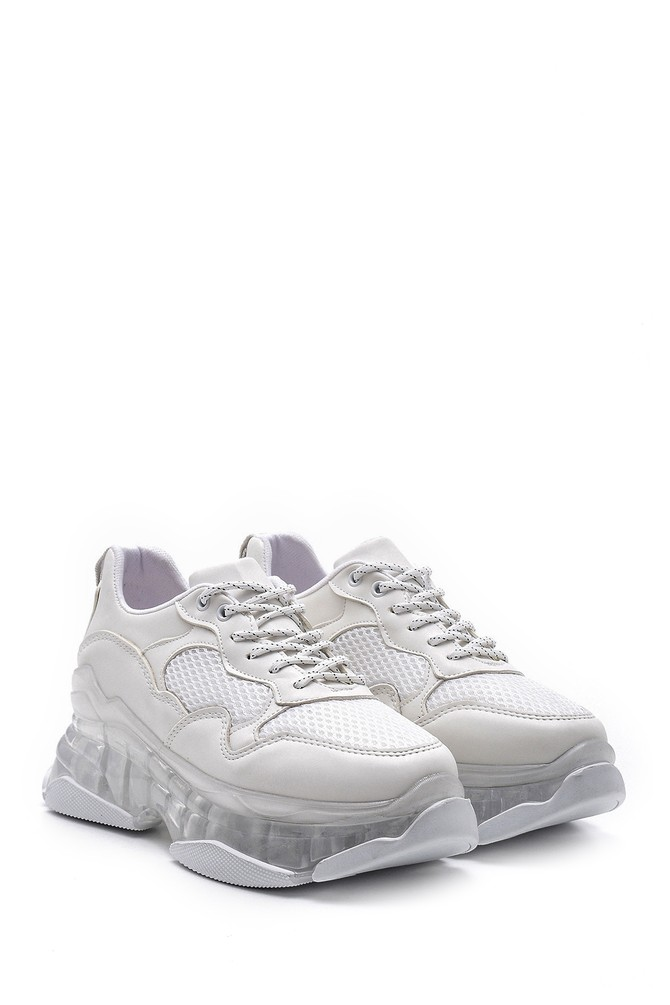 5638121130 Kadın Şeffaf Tabanlı Sneaker