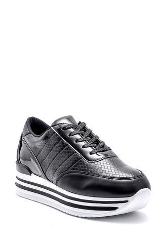 Kadın Yılan Derisi Detaylı Sneaker