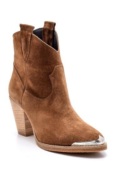 Kahverengi Kadın Topuklu Süet Bot 5638169080