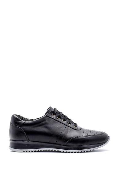 Siyah Erkek Deri Sneaker 5638130241