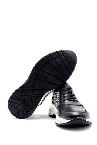 Erkek Desenli Deri Sneaker